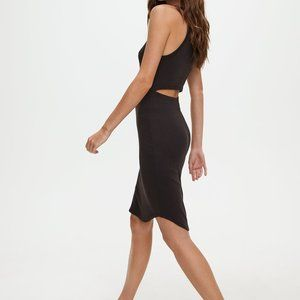 Wilfred Free Aritzia Long Black Dress w/ Open Back